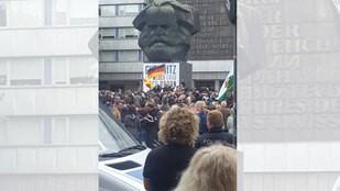 Demonstration, © Sachsen Fernsehen