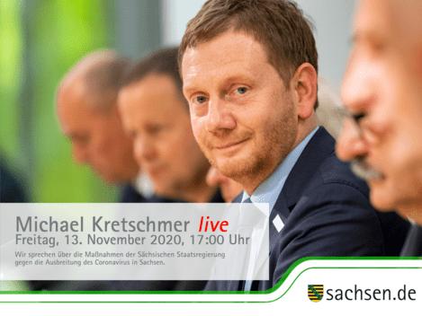 Michael Kretschmer im Bürgergespräch zu Corona, © SÄCHSISCHE STAATSKANZLEI