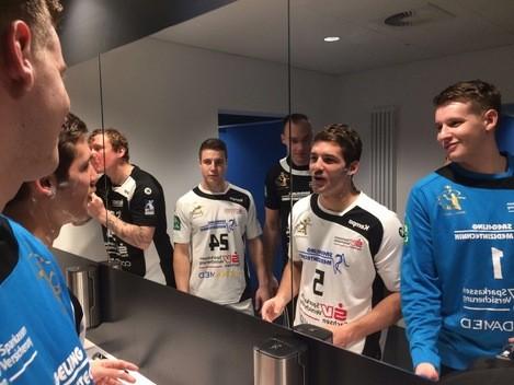 HCE, Elbflorenz, Handball, Roman Becvar, Arseniy Buschmann, Aktion, Mo, Oberlippenbart, © Sachsen Fernsehen