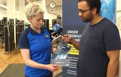Tag der Rückengesundheit bei Kieser Training, © Sachsen Fernsehen
