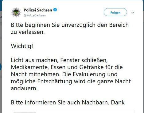 © Twitter | Polizei Sachsen