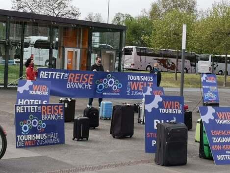 Bus-Demo in Dresden, © www.sachsen-fernsehen.de