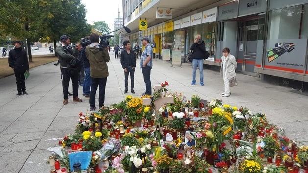 Demonstration, Dunja Hayali, © Sachsen Fernsehen