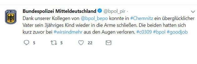wirsindmehr, © Twitter Polizei Mitteldeutschland