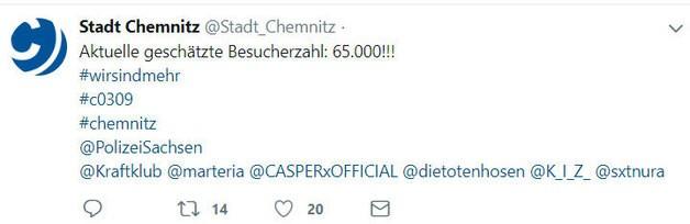 wirsindmehr, © Twitter Stadt Chemnitz