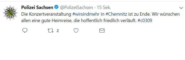 wirsindmehr, © Twitter Polizei Sachsen