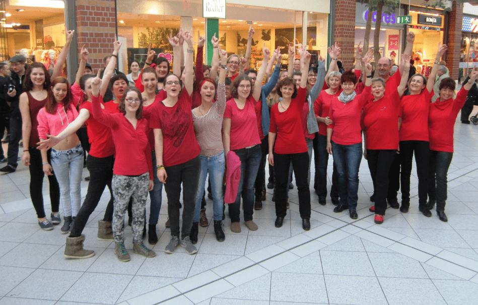 Gegen Gewalt an Frauen: Flashmob in Bregenz