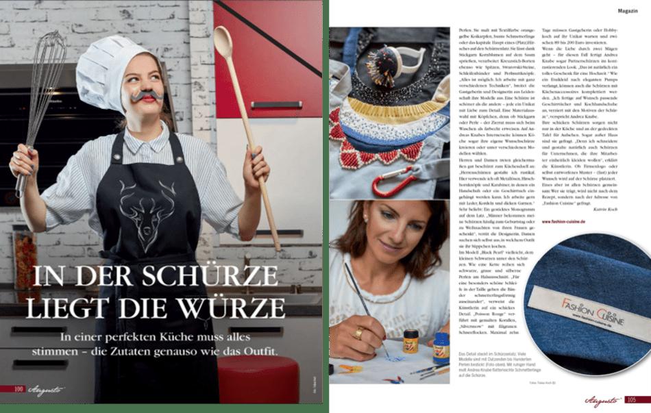 Kochen, Schürze, Kochschürze, Fashion, Fashion Cuisine, Dresden, Handmade, Handwerk, exklusiv, Mode, Geschenkidee, Grillen, Geschenk
