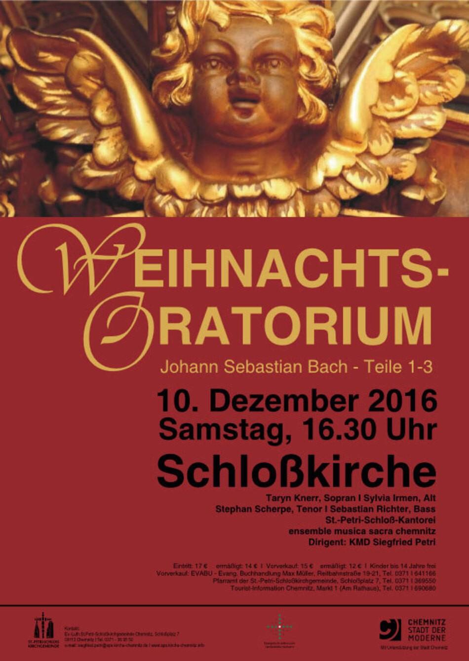 """1734 komponierte Johann Sebastian Bach das """"Weihnachtsoratorium"""" für die  Gottesdienste der Weihnachtsfesttage – sechs an der Zahl."""