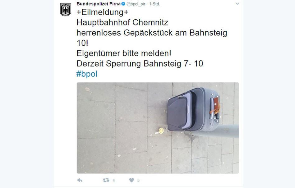 © Bundespolizei Pirna - Twitter