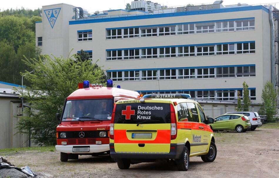Chemie-Unfall auf Firmengelände in Mohsdorf