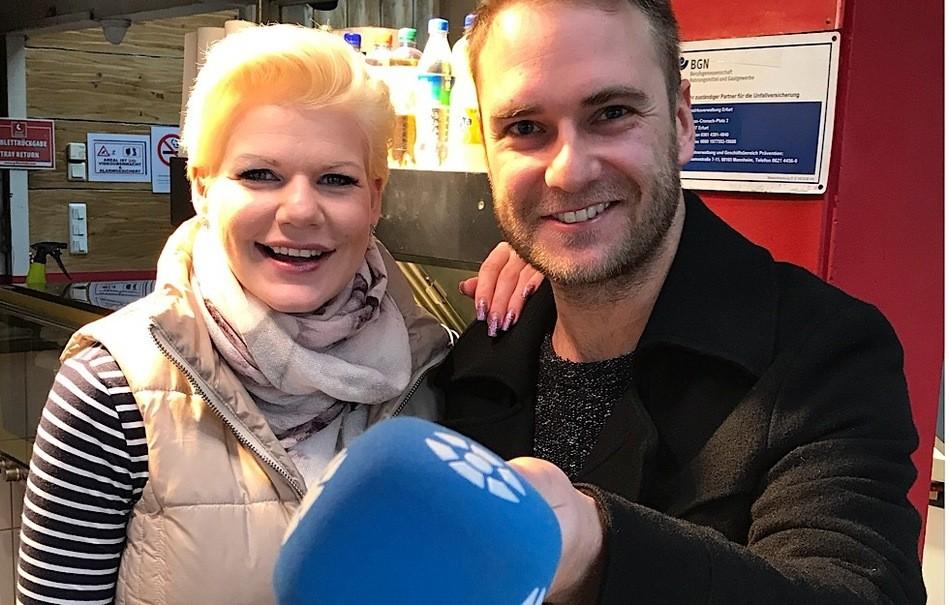 © Leipzig Fernsehen / LF-Moderator Jan Kaufhold führte das exklusive Video-Interview mit Melanie Müller