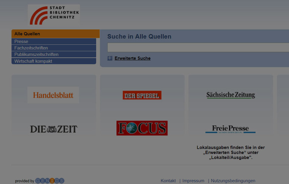 © Internetseite: https://bib-chemnitz.genios.de/