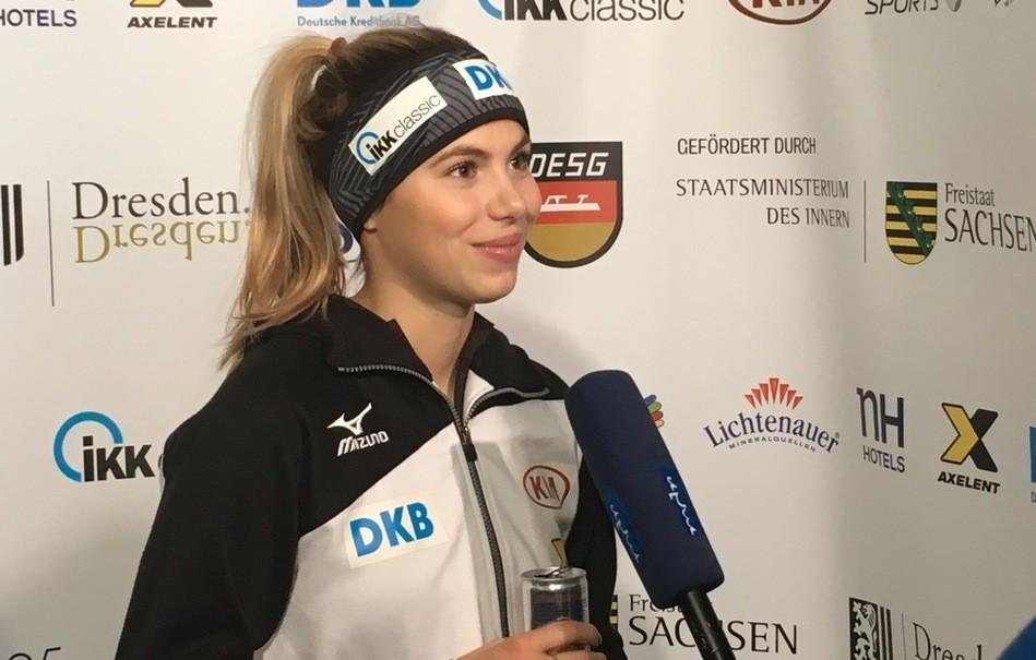 Short Track, Shorttrack, Anna Seidel, Eisschnelllauf, Kurzstrecke, © Sachsen Fernsehen
